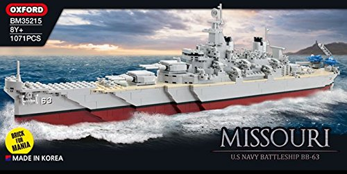 MISSOURI US NAVY BATTLESHIP (1071 PIECES)