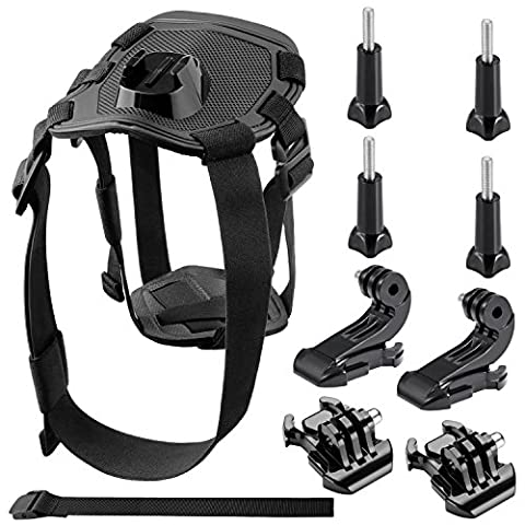 Neewer Pet Dog Chest Kit Chest Strap Belt Mount Remote Control Wrist Strap for GoPro Hero Session/5 Hero 1 2 3 3+ 4 5 SJ4000 5000 6000 DBPOWER AKASO VicTsing APEMAN WiMiUS Rollei QUMOX And More