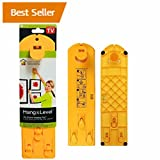 quick picture frame - Picture Hangers, Flyboss Picture Hanging Tools, Frame Hanging Tool, Picture Ruler, Easy Frame Tool for Marking Position and Measuring the Suspension and Horizontal Wall of the Roof (Yellow)