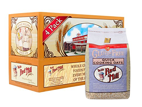 (Bob's Red Mill Gluten Free Quick Cooking Rolled Oats, 32-ounce (Pack of 4))