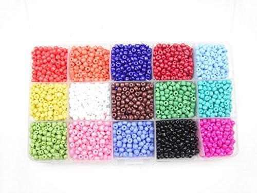 ALL in ONE Extravaganza Bead Box: 15 Color Plastic Rainbow Opaque Pony Bead 4mm - Pony Bead Kit