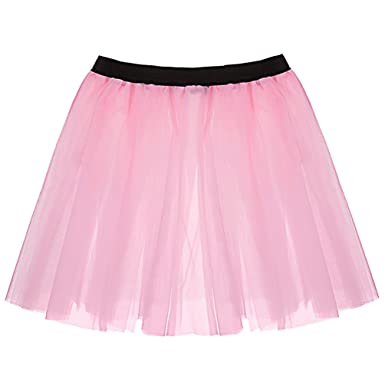 f868810c99 ... Tulle Skirt For Adults Fluffy Ballerina Puffy Tutu Costumes Petticoat  Bubble Tiered Skirt Ballet Ruffle Petticoats Light Pink: Amazon.co.uk:  Clothing