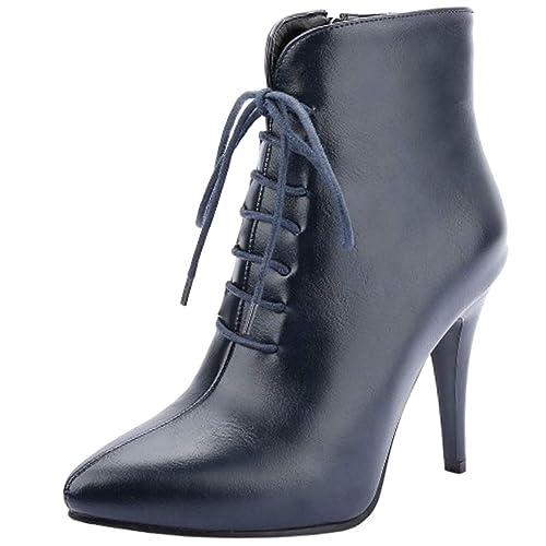 Lydee Mujer Elegant Business Zapatos Botines Botas Zipper: Amazon.es: Zapatos y complementos