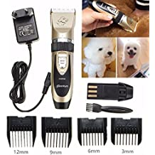 Katoot@ Electrical Animal Pet Dog Cat Hair Trimmer Ceramic Shaver Razor Quiet Clipper Grooming Cuttiing Tools Pet Hair Beauty Supplies