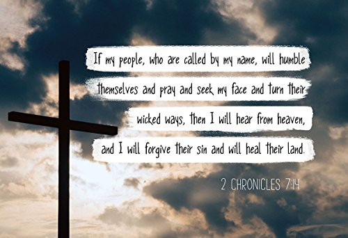 2 Chronicles 7:14 If my people - Christian Poster, Print, Picture or Framed Wall Art Decor - Bible Verse Collection - Religious Gift for Holidays Christmas Baptism (13x19 Unframed -