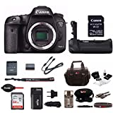 Canon EOS 7D Mark II DSLR Camera (Body Only) w/Battery Grip & 64GB Card Bundle For Sale