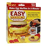 MiniInTheBox As Seen On TV Easy Eggwich Cooking Tool Microwave Cheese Egg Cooker Fast Egg Maker 2 Pcs