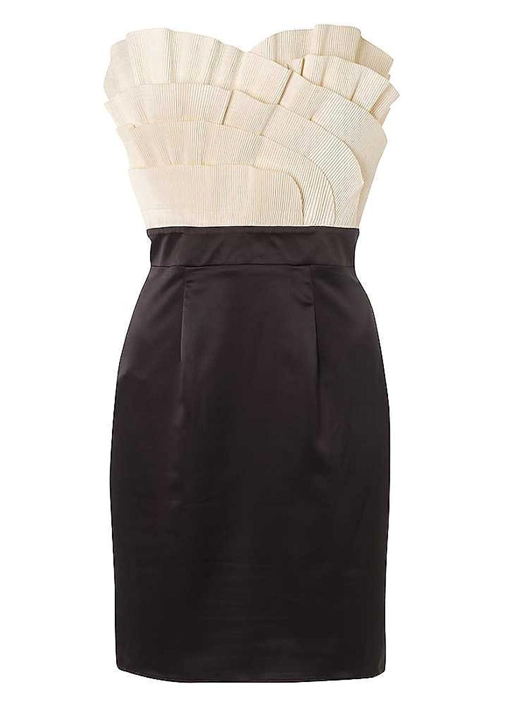 Lipsy Pleated Fan Bust Dress