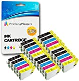 25 Cartuchos de tinta compatibles para Epson Stylus Photo R240, R245, RX400, RX420, RX425, RX430, RX450, RX520 / T0551, T0552, T0553, T0554 (T0555)