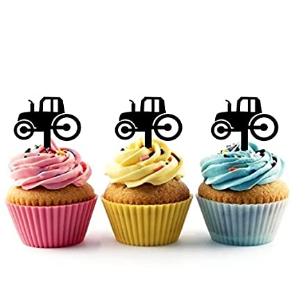 Innovedesire Farm Tractor Cupcake Cake Topper para tartas ...