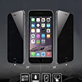 AMOVO iPhone 6S Plus 用 iPhone 6S Plus フィルム iPhone 6 Plus 液晶保護 フィルム 強化ガラス 0.26mm 0.25D 超耐久・超薄型 のぞき見防止 プライバシーフィルム iPhone 6 Plus フィルム iPhone 6s Plus ガラスフィルム 表面硬度9H 気泡ゼロ 指紋防止機能フィルム (覗き見防止)