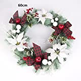 Christmas Garland for Stairs fireplaces Christmas Garland Decoration Xmas Festive Wreath Garland with 60cm Christmas wreath Garlands