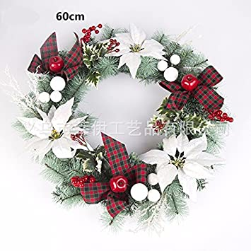 christmas garland for stairs fireplaces christmas garland decoration xmas festive wreath garland with 60cm christmas wreath - Fireplace Christmas Decorations Amazon