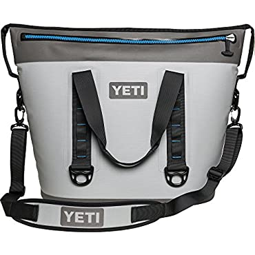 YETI Hopper Two 40 Cooler (Fog Gray / Tahoe Blue)