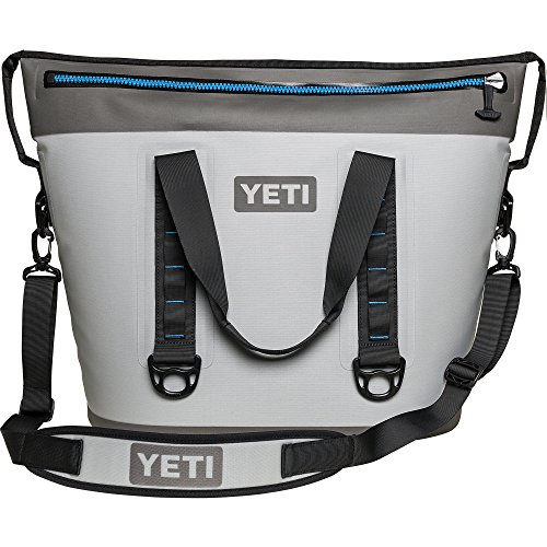 YETI Hopper Two 40 Portable Cooler, Fog Gray / Tahoe Blue