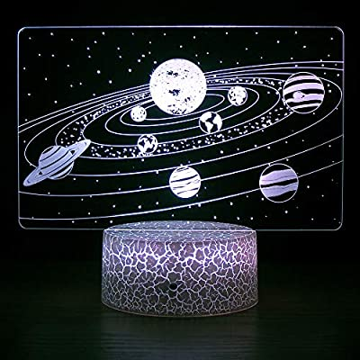 HYODREAM Solar System Optical Illusion Lamp Universe Space Galaxy Night Light for Kids Boys and Girls as on Birthdays or Holidays: Home & Kitchen