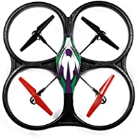 WLtoys V262 Cyclone UFO 2.4Ghz 4 Channels 6 Axis Gyro Quadcopter (Green)