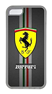 iPhone 5C Case, iPhone 5C Cases - Full-body Rugged Soft Rubber Case for iPhone 5C Ferrari Logo Crystal Clear Back Panel Case for iPhone 5C by ruishername