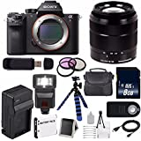 Sony Alpha a7R II Mirrorless Digital Camera (International Model no Warranty) + Sony E-Mount SEL 1855 18-55mm Zoom Lens (Black) + 49mm 3 Piece Filter Kit 6AVE Bundle 15