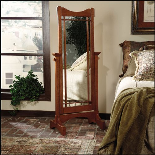 - Powell Mission Oak Cheval Mirror by Powell