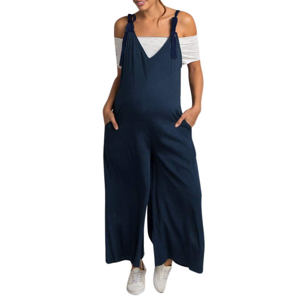 Femmes De Grande Taille De Maternité Enceintes Pansements Longue Salopette Camisole Maternité Peignor/Chemise Nuit/Pyjamas FathoitTM 1