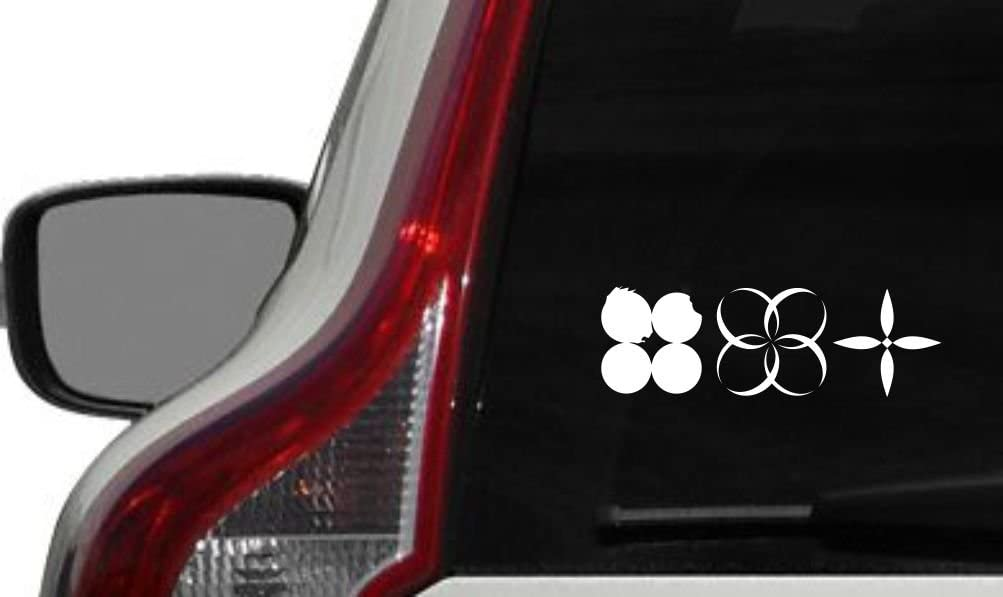 BTS Wings Horizontal Logo Car Vinyl Sticker Decal Bumper Sticker for Auto Cars Trucks Windshield Custom Walls Windows Ipad MacBook Laptop Home and More (White)