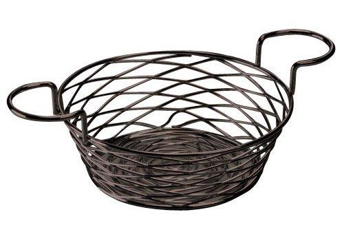 American Metalcraft BNBB83 Round Birdnest Wire Basket with Ramekin Holder, - Ramekins American Metalcraft