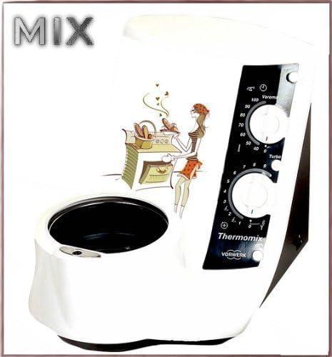 PEGATINA para Thermomix TM21 TM 21 NEU cocinera cocina mujer en la cocina The Cook: Amazon.es