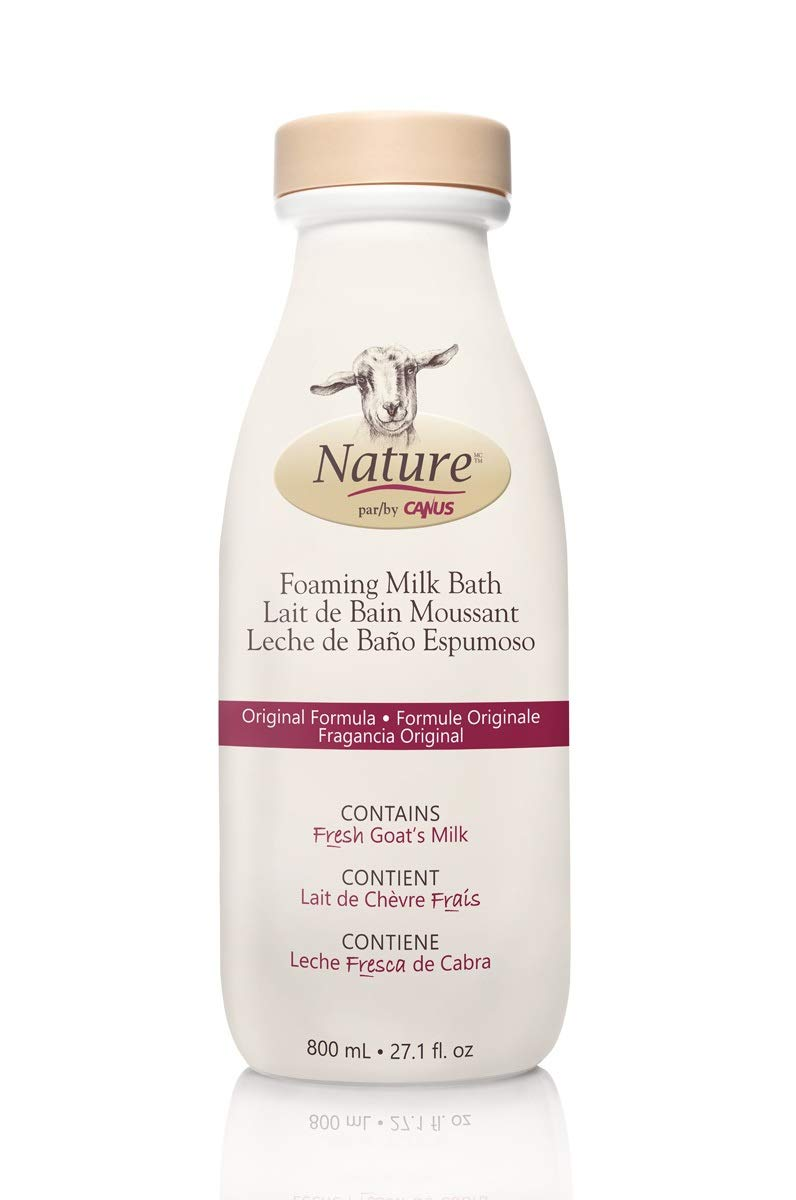 Amazon.com: Nature by Canus Foaming Milk Bath with Fresh Canadian Goat Milk, Lavender Oil, 27.1 Fluid Ounce: Beauty