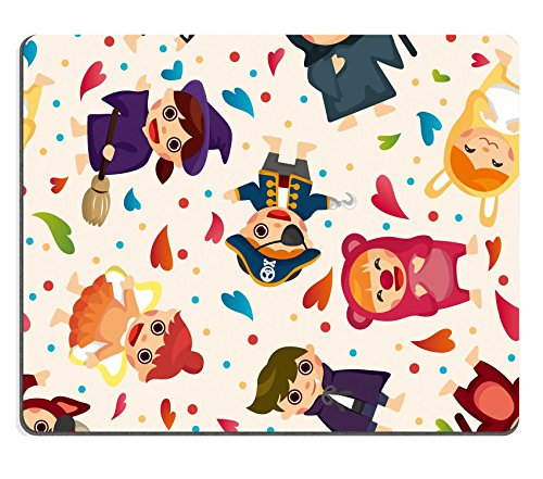 [MSD Natural Rubber Mousepad IMAGE ID: 11917803 costume party seamless pattern] (Period Piece Halloween Costumes)