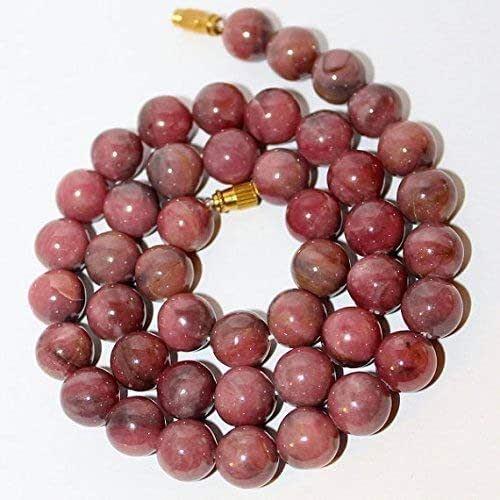 Rhodonite NecklaceNatural BeadsGem-Stone NecklaceSemi-Precious Stone Necklacebeaded NecklaceAnniversary GiftGift for her