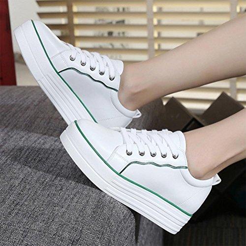 green svago pattini scarpe scarpe signora sportive di Muffin white aumentato autunno PwCSvgxxq