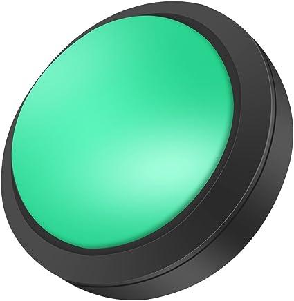 100mm Illuminated Arcade Game Push Button Switch LED Light Green 12V