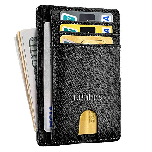 Minimalist Slim Front Pocket Wallets for Men with Genuine Leather & RFID Blocking