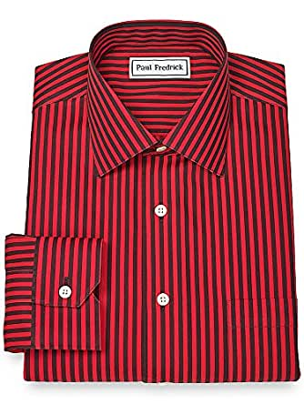 paul fredrick men 39 s non iron spread collar dress shirt at