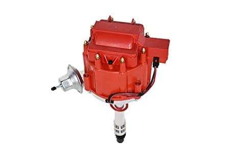 A-Team Performance HEI Distributor 65K Coil 7500 RPM Compatible with  Chevrolet Chevy GM GMC Small Block SBC Big Block BBC 262 265 267 283 302  305 307