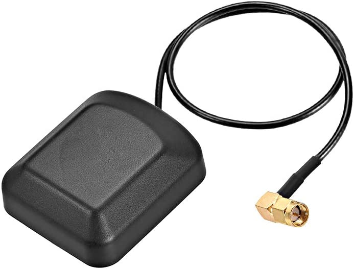 uxcell GPS Active Antenna 90-Degree SMA Male Plug 28dB Aerial Connector Cable with Magnetic Mount 0.5 Meter Wire