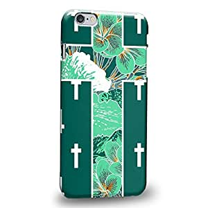 Case88 Premium Designs Green crosses christian Easter cross symbols religion symbol Protective Snap-on Hard Back Case Cover for Apple iPhone 6 Plus 5.5""