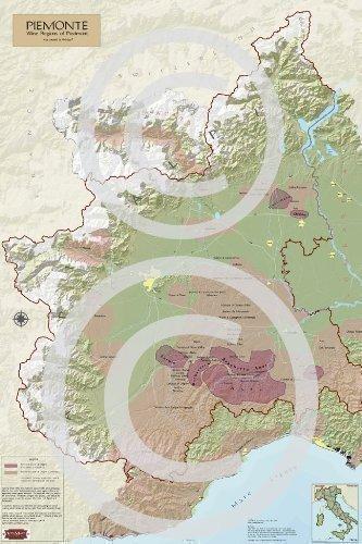 Amazon Com Wine Region Map For Piedmont Italy Wall Maps