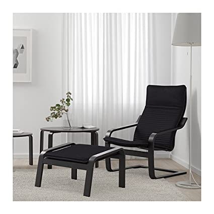 amazon com ikea poang chair armchair and footstool set with covers