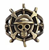 High Quality Imported Straw Hat Pirate Logo Ring