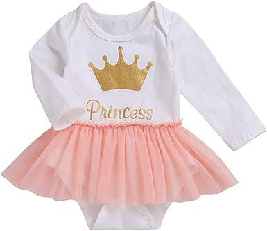 MAYOGO Bebé Niña Manga Larga Mameluco Ropa Bebe Princesa Mono ...