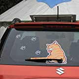 BEMOST Auto Accessories Car Styling Cartoon Funny Cat Moving Tail Animal Stickers Car Rear Window Wiper Decals Stickers