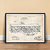 WRIGHT FLYER Airplane Patent Poster Print Brothers Flying Machine Unframed (18
