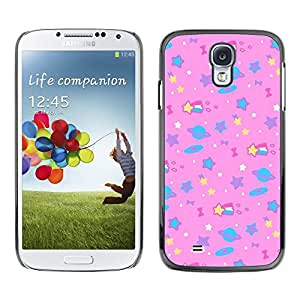 Dragon Case - FOR Samsung Galaxy S4 - Besutiful pink star - Caja protectora de pl??stico duro de la cubierta Dise?¡Ào Slim Fit