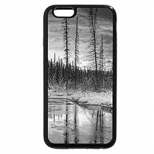 iPhone 6S Case, iPhone 6 Case (Black & White) - gorgeous winter riverscape hdr