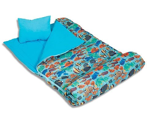 Wildkin Tropical Fish 66 Sleeping Bag – Tropical Fish, Outdoor Stuffs