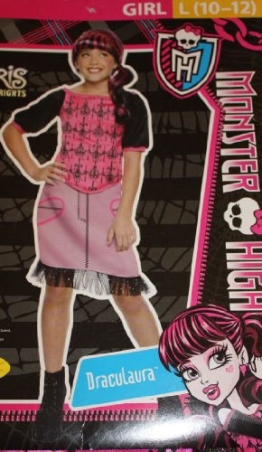 MONSTER HIGH - DRACULAURA COSTUME - L (Monster High Costumes 11-12)