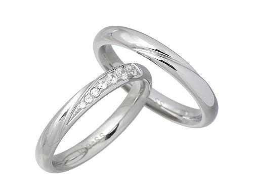 9d5e885fff7e Amazon   vie ヴィー ステンレス デザイン 甲丸 ペア リング キュービック 指輪 7~15号 7~21号 vie-R1182-1183    スタンダードリング 通販