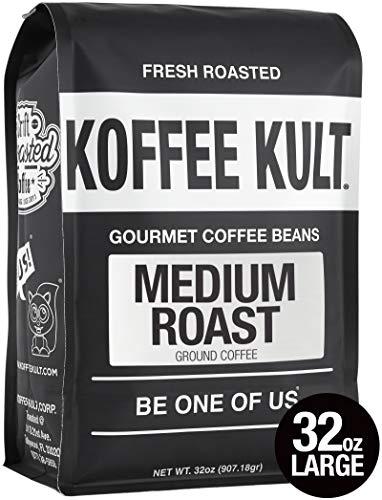 (Koffee Kult Medium Roast Ground Coffee, 32oz)